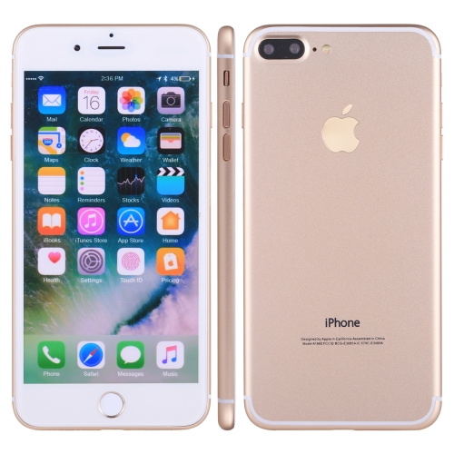 For iPhone 7 Plus Color Screen Non-Working Fake Dummy, Display Model(Gold)