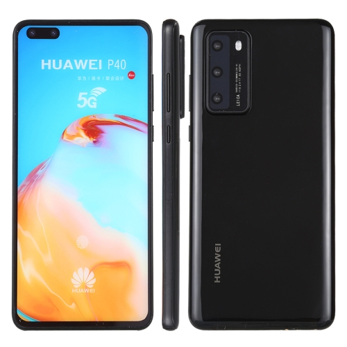 Color Screen Non-Working Fake Dummy Display Model for Huawei P40 5G(Jet Black)