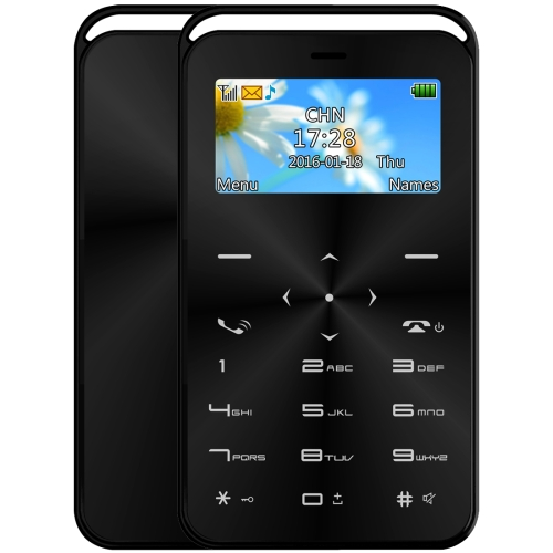 DAXIAN GS6 Card Mobile Phone, Network: 2G, 7.9mm Ultra Thin Pocket Mini Slim Card Phone, 1.69 inch, QWERTY Keyboard, BT, FM, Alarm, MP3 Music, Calendar, Calculator(Black) sheli laptop motherboard for hp dv7 7000 682037 001 682037 501 hm77 630m 2g non integrated graphics card