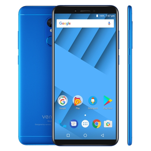 [HK Stock] Vernee M6, 4GB+64GB, Fingerprint Identification, 5.7 inch Android 7.0 MTK6750 Octa Core up to 1.5GHz, Network: 4G(Blue)