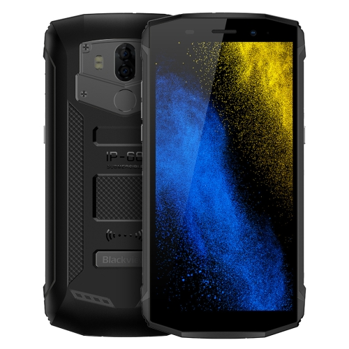[HK Stock] Blackview BV5800 Pro, 2GB+16GB, IP68 Waterproof Dustproof Shockproof, Dual Back Cameras, 5580mAh Battery, Fingerprint Identification, 5.5 inch Android 8.1 MTK6357 Quad Core up to 1.5GHz, NFC, OTG, Wireless Charge, Network: 4G (Black)