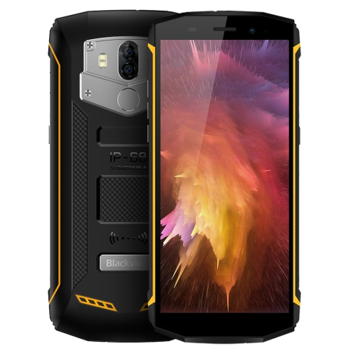[HK Stock] Blackview BV5800 Pro, 2GB+16GB, IP68 Waterproof Dustproof Shockproof, Dual Back Cameras, 5580mAh Battery, Fingerprint Identification, 5.5 inch Android 8.1 MTK6357 Quad Core up to 1.5GHz, NFC, OTG, Wireless Charge, Network: 4G (Yellow)