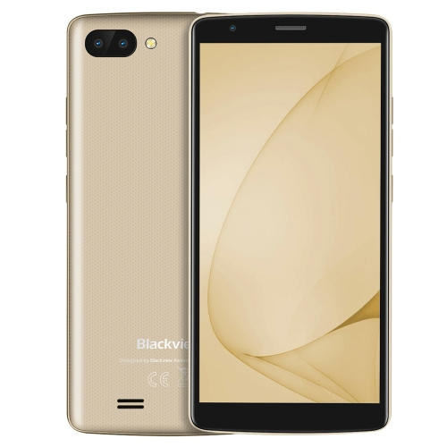 [HK Stock] Blackview A20, 1GB+8GB, Dual Back Cameras, 5.5 inch Android GO MTK6580M Quad Core up to 1.3GHz, Network: 3G, Dual SIM(Gold)