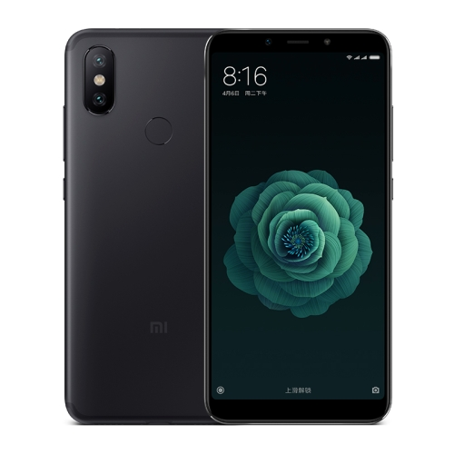 Xiaomi Mi 6X / A2, 6GB+64GB, Dual AI Rear Cameras, Fingerprint Identification, 5.99 inch MIUI 9.0 Qualcomm Snapdragon 660 Octa Core up to 2.2GHz, Network: 4G, VoLTE, Dual SIM(Black)
