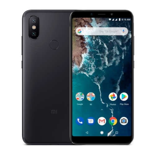 [HK Stock] Xiaomi Mi A2, 6GB+128GB, Global Official Version, AI Dual Back Cameras, Fingerprint Identification, 5.99 inch Android One Qualcomm Snapdragon 660 AIE Octa Core up to 2.2GHz, Network: 4G, VoLTE, Dual SIM(Black)