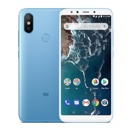 [HK Stock] Xiaomi Mi A2, 6GB+128GB, Global Official Version, AI Dual Back Cameras, Fingerprint Identification, 5.99 inch Qualcomm Snapdragon 660 Octa Core up to 2.2GHz, Network: 4G, VoLTE, Dual SIM(Blue)