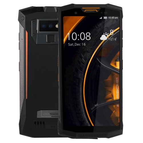 [HK Stock] DOOGEE S80 Rugged Phone, 6GB+64GB, Walkie Talkie Function, IP68/IP69K Waterproof Dustproof Shockproof, MIL-STD-810G, 10080mAh Battery, Dual Back Cameras, Fingerprint Identification, 5.99 inch Android 8.1 MTK6763T Octa Core up to 2.5GHz, Network: 4G(Orange)