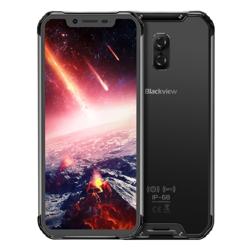 [HK Stock] Blackview BV9600 Pro, 6GB+128GB, IP68/IP69K Waterproof Dustproof Shockproof, Dual Back Cameras, 5580mAh Battery, Face ID & Side-mounted Fingerprint Identification, 6.21 inch Android 8.1 Helio P60 (MTK6771) Octa Core up to 2.0GHz, NFC, Wireless