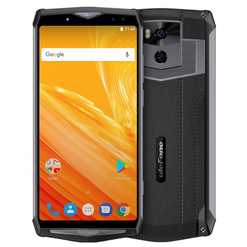 [HK Stock] Ulefone Power 5, 6GB+64GB, Dual Back Cameras + Dual Front Cameras, 13000mAh Battery, Face & Fingerprint Identification, 6.0 inch Android 8.1 MTK6763 Octa Core 64-bit up to 2.0GHz, Network: 4G, Wireless Charge, OTG, VoLTE(Dark Gray)