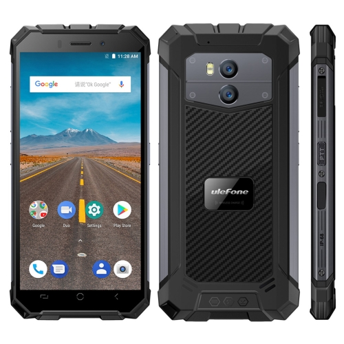 [HK Stock] Ulefone Armor X Triple Proofing Phone, 2GB+16GB, IP68 Waterproof Dustproof Shockproof, Dual Back Cameras, 5500mAh Battery, Face & Fingerprint Identification, 5.5 inch Android 8.1 MTK6739 Quad Core 64-bit up to 1.5GHz, Network: 4G, NFC, OTG, Wir