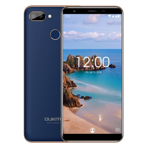 [HK Stock] OUKITEL C11 Pro, 3GB+16GB, Dual Back Cameras, Fingerprint Identification,  5.5 inch Android 8.1 MTK6739 Quad Core up to 1.3GHz, Network: 4G(Blue)