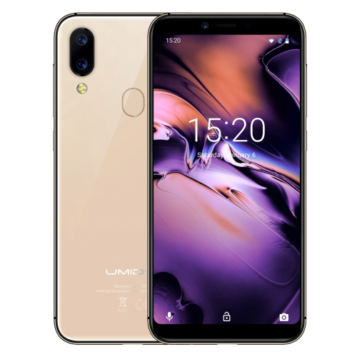 [HK Stock] UMIDIGI A3, Dual 4G, 2GB+16GB, Dual Back Cameras, Face ID & Fingerprint Identification, 5.5 inch 2.5D Full Screen Android 8.1 MTK6739 Quad Core up to 1.5GHz, Network: 4G, Dual SIM(Gold)