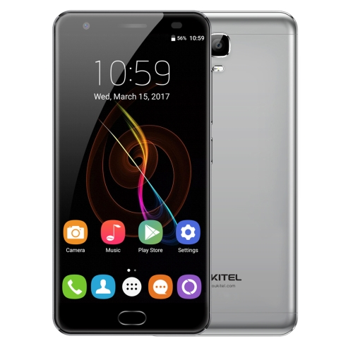 [HK Stock] OUKITEL K6000 Plus, 4GB+64GB, South American Version, Fingerprint Identification, 6080mAh Battery, 5.5 inch Android 7.0 MTK6750T Octa Core up to 1.5GHz, Network: 4G, Dual SIM, OTG(Grey)
