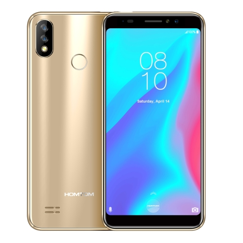 [HK Stock] HOMTOM C8, 2GB+16GB, Dual Back Cameras, Face ID & Fingerprint Identification, 5.5 inch Android 8.1 MTK6739 Quad Core up to 1.3GHz, Network: 4G, OTG, OTA, Dual SIM (Gold)