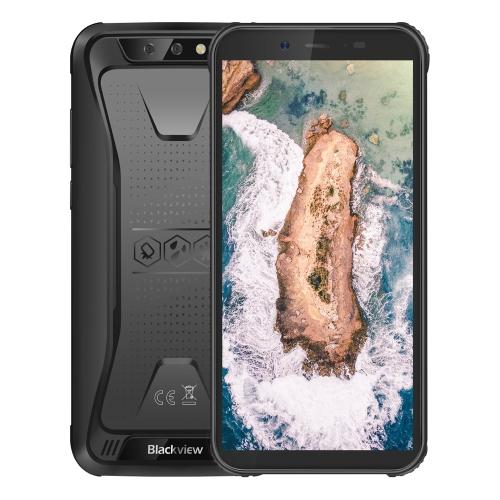 [HK Stock] Blackview BV5500 Rugged Phone, 2GB+16GB, IP68 Waterproof Dustproof Shockproof, Dual Back Cameras, 4400mAh Battery, 5.5 inch Android 8.1 MTK6580P Quad Core up to 1.3GHz, Network: 3G, OTG, Dual SIM, EU Version(Black)