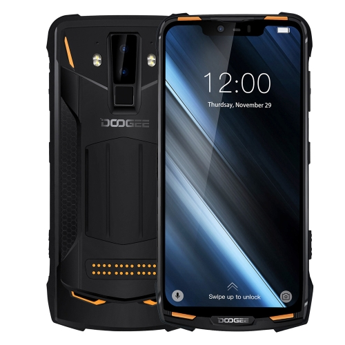 [HK Stock] DOOGEE S90 Rugged Phone, 6GB+128GB, IP68 Waterproof Dustproof Shockproof, Dual Back Cameras, Face ID & DTouch Fingerprint, 6.18 inch Screen Android 8.1 MTK6771(P60)4*Cortex-A73 2.0GHz + 4*Cortex-A53 2.0GHz, Network: 4G, NFC, OTA, Dual SIM(Orang