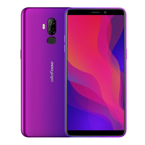 [HK Stock] Ulefone Power 3L,  2GB+16GB, Dual Back Cameras, Face ID & Fingerprint Identification, 6350mAh Battery, 6.0 inch Android 8.1 MTK6739 Quad-core 64-bit up to 1.5GHz, Network: 4G, OTG, NFC, Dual SIM (Purple)