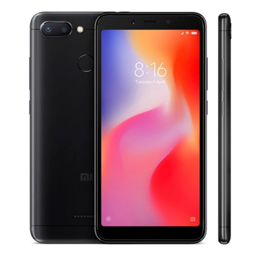 [HK Stock] Xiaomi Redmi 6, 3GB+32GB, Global Official Version, AI Dual Back Cameras, Face & Fingerprint Identification, 5.45 inch MIUI 9.0 Helio P22 Octa Core up to 2.0GHz, Network: 4G(Black) global version xiaomi redmi 4x 3gb 32gb smartphone black