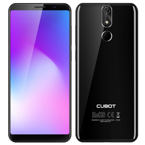 [HK Stock] CUBOT Power, 6GB+128GB, Fingerprint Identification, 6000mAh Battery, 5.99 inch Android 8.1 MTK6763T (Helio P23) Octa Core up to 2.5GHz, Network: Dual 4G, Dual SIM(Black) tyt tae yeong tbbq3 100iii dual power source automatic switch 16a 3p dual power transfer switch
