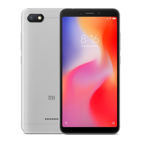 [HK Stock] Xiaomi Redmi 6A, 2GB+32GB, Global Official Version, Face Identification, 5.45 inch MIUI 9.0 Helio A22 Quad Core up to 2.0GHz, Network: 4G(Grey) global version xiaomi redmi 4x 3gb 32gb smartphone black