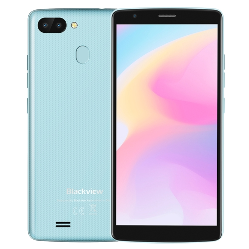 [HK Stock] Blackview A20 Pro, 2GB+16GB, Fingerprint Identification, Dual Back Cameras, 5.5 inch Android 8.1 MTK6739 Quad Core 64bit up to 1.3GHz, Network: 4G, Dual SIM(Blue)