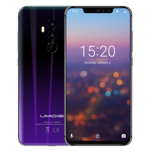 [HK Stock] UMIDIGI Z2, Dual 4G, 6GB+64GB, Dual Back Cameras + Dual Front Cameras, Face ID & Fingerprint Identification, 6.2 inch Android 8.1 MTK6763 (Helio P23) Octa Core up to 2.0GHz, Network: 4G, Dual SIM(Twilight Black)