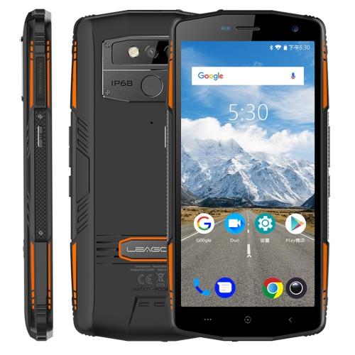 [HK Stock] LEAGOO XRover Rugged Phone, 6GB+128GB, IP68 Waterproof Dustproof Shockproof, 5000mAh Battery, Dual Back Cameras, Face ID & Fingerprint Identification, 5.72 inch Android 8.1 MTK6763 Octa Core, Network: 4G, PTT, OTG, NFC(Black)