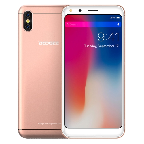 [HK Stock] DOOGEE X53, 1GB+16GB, Dual Back Cameras, 5.3 inch Android 7.0 MTK6580M Quad Core up to 1.3GHz, Network: 3G, OTA, Dual SIM(Gold)
