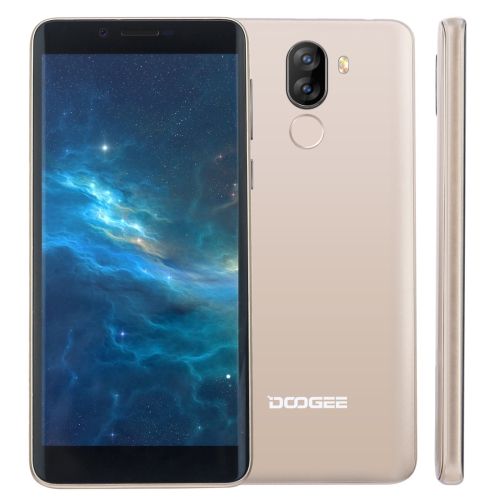 [HK Stock] DOOGEE X60L, 2GB+16GB, Dual Back Cameras, DTouch Fingerprint Identification, 5.5 inch Android 7.0 MTK6737V Quad Core up to 1.3GHz, Network: 4G, OTA, Dual SIM(Gold)