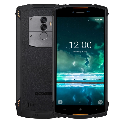 [HK Stock] DOOGEE S55 Triple Proofing Phone, 4GB+64GB, IP68 Waterproof Dustproof Shockproof, 5500mAh Battery, Dual Back Cameras, Fingerprint Identification, 5.5 inch Android 8.0 MTK6750T Octa Core up to 1.5GHz, Network: 4G, Dual VoLTE (Orange)
