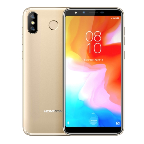 [HK Stock] HOMTOM H5, Dual 4G, 3GB+32GB, Dual Back Cameras, Face ID & Fingerprint Identification, 5.7 inch 360 OS MTK6739 Quad Core up to 1.3GHz, Network: 4G, Dual SIM, OTG, OTG(Gold)