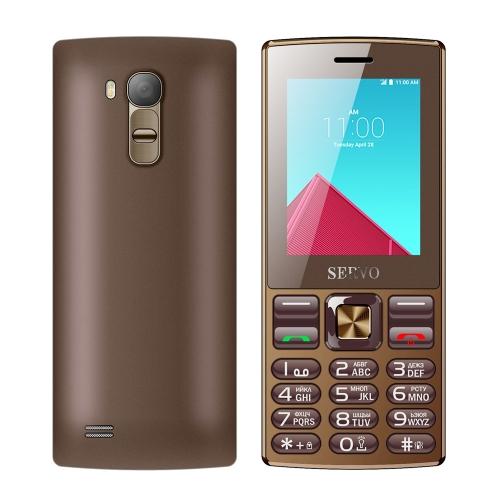SERVO V9300 Card Mobile Phone, 2.4 inch, 21 Keys, Support Bluetooth, FM, Flashlight, MP3 / MP4, GSM, Dual SIM, Russian Keyboard(Coffee)