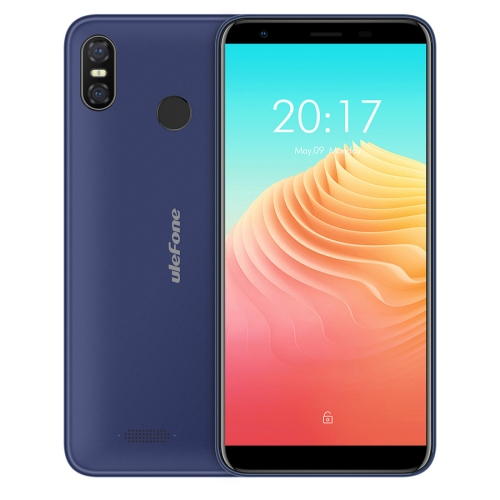 [HK Stock] Ulefone S9 Pro,  2GB+16GB, Dual Back Cameras,  Face ID & Fingerprint Identification, 5.5 inch Android 8.1 MTK6739 Quad-core 64-bit up to 1.3GHz, Network: 4G, Dual SIM(Blue)