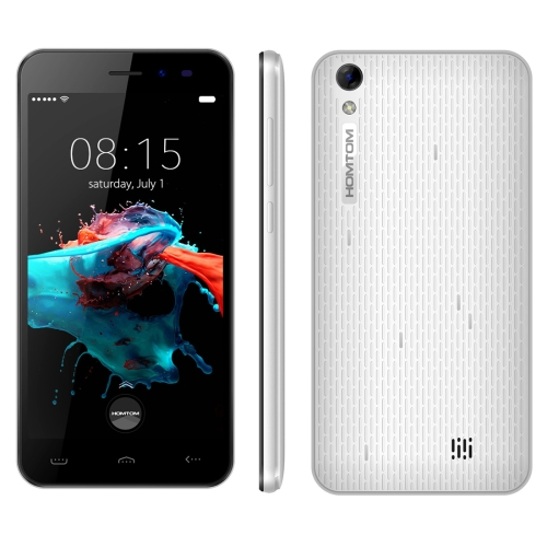 [HK Stock] HOMTOM HT16, 1GB+8GB, 5.0 inch Android 6.0 MTK6580 Quad Core up to 1.3GHz, Network: 3G(White)