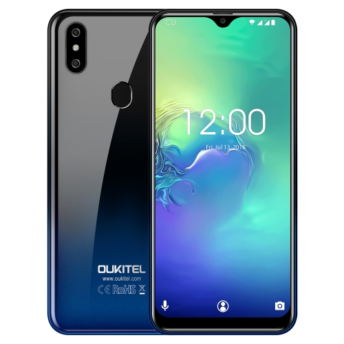 [HK Stock] OUKITEL C15 Pro, 2GB+16GB, Dual Back Cameras, Face ID & Fingerprint Identification, 6.088 inch 2.5D Water-drop Screen Android 9.0 Pie MTK6761 Quad Core up to 2.0GHz, Network: 4G, Dual SIM, OTG, VoLTE(Twilight)