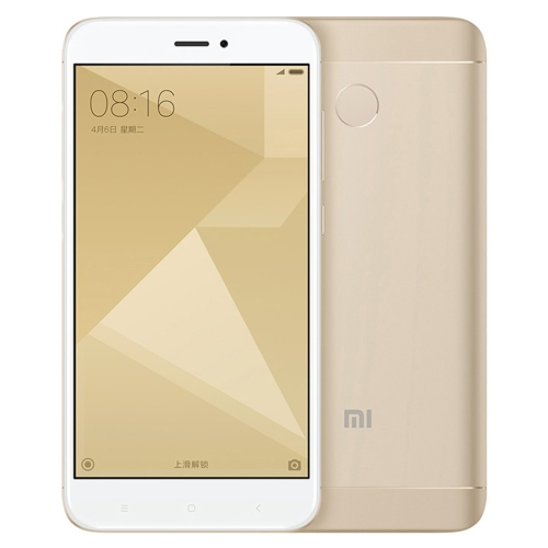 где купить [HK Stock] Xiaomi Redmi 4X, 2GB+16GB, Official Global ROM, 4100mAh Big Battery, Dual SIM, Dual Camera, Back Fingerprint Identification, 5.0 inch 2.5D Curved HD Screen, Android 6.0 OS, Qualcomm Snapdragon 435 Octa Core 1.4GHz, Network: 4G, Support 128GB TF Card(Gold) дешево