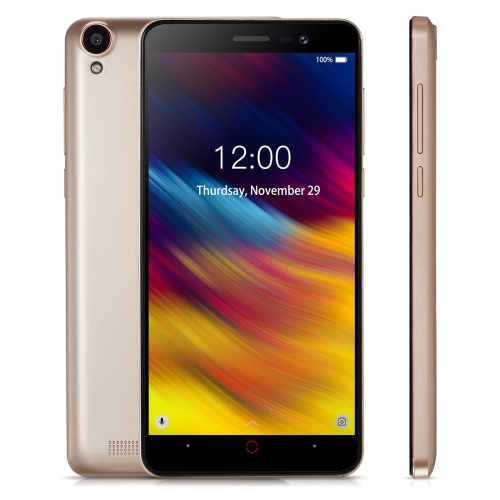 [HK Stock] DOOGEE X100, 1GB+8GB, 4200mAh Battery, 5.0 inch Android 8.1 GO MTK6580A Quad Core up to 1.3GHz, Network: 3G, OTA, Dual SIM(Gold)