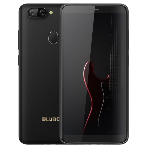 [HK Stock] BLUBOO D6, 2GB+16GB, Dual Back Cameras, Face ID & Fingerprint Identification, 5.5 inch 2.5D Curved Android 8.1 MTK6580A Quad Core up to 1.3GHz, Network: 3G, Dual SIM(Black)