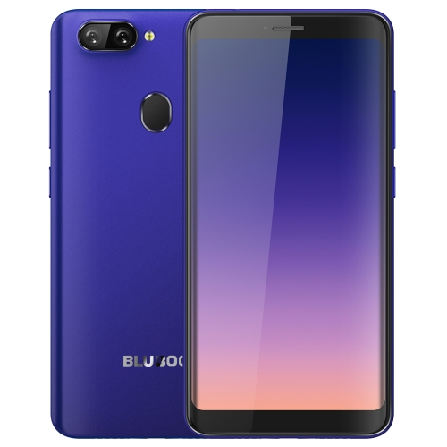 [HK Stock] BLUBOO D6, 2GB+16GB, Dual Back Cameras, Face ID & Fingerprint Identification, 5.5 inch 2.5D Curved Android 8.1 MTK6580A Quad Core up to 1.3GHz, Network: 3G, Dual SIM(Blue)