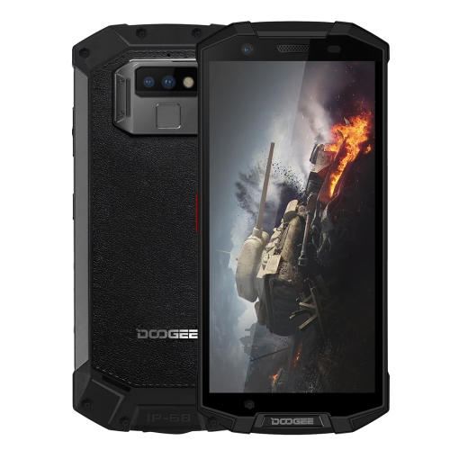 [HK Stock] DOOGEE S70 Lite Rugged Phone, 4GB+64GB, IP68 Waterproof Dustproof Shockproof, 5500mAh Battery, Dual Back Cameras, Fingerprint Identification, 5.99 inch Android 8.1 MTK Helio P23 Octa Core up to 2.5GHz, Network: 4G(Black)