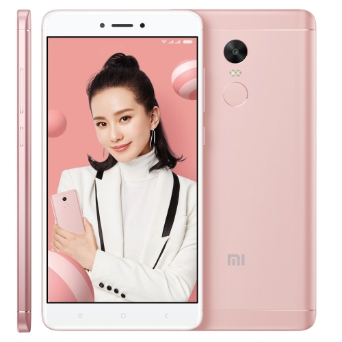[HK Stock] Xiaomi Redmi Note 4X, 3GB+16GB, Fingerprint Identification, IR Remote Control, 5.5 inch MIUI 8.0 Qualcomm Snapdragon 625 Octa Core up to 2.0GHz, Network: 4G(Cherry Pink) redmi 4x 16gb pink
