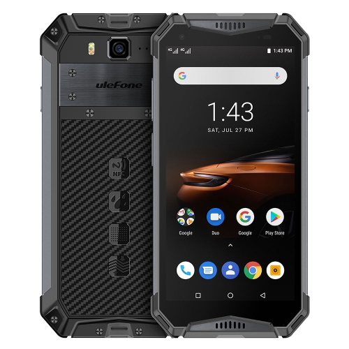 [HK Stock] Ulefone Armor 3W Rugged Phone, Dual 4G, 6GB+64GB, IP68/IP69K Waterproof Dustproof Shockproof, Face ID & Fingerprint Identification, 10300mAh Battery, 5.7 inch Android 9.0 MKT Helio P70 Octa-core 64-bit up to 2.1GHz, Network: 4G, Dual VoLTE, NFC