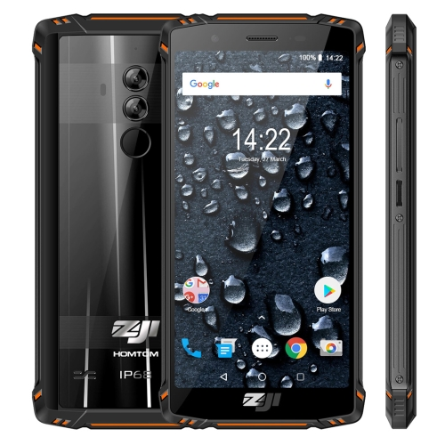 [HK Stock] HOMTOM ZOJI Z9 Triple Proofing Phone, Dual 4G, 6GB+64GB, IP68 Waterproof Dustproof Shockproof, Heart Rate, 5500mAh Battery, Face ID & Fingerprint Unlock, 5.7 inch Android 8.1 MTK6763 Octa Core up to 2.0GHz, Network: 4G, OTG, Dual SIM, VoLTE(Ora