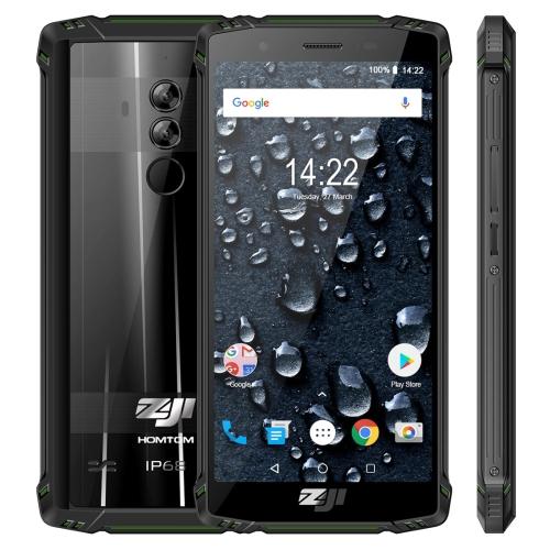 [HK Stock] HOMTOM ZOJI Z9 Triple Proofing Phone, Dual 4G, 6GB+64GB, IP68 Waterproof Dustproof Shockproof, Heart Rate, 5500mAh Battery, Face ID & Fingerprint Unlock, 5.7 inch Android 8.1 MTK6763 Octa Core up to 2.0GHz, Network: 4G, OTG, Dual SIM, VoLTE(Gre