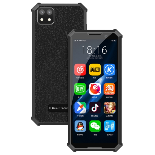 MELROSE 2019 END with Fingerprint, 1GB+8GB, 3.46 inch, Android 8.1 MTK6739V/WA Quad Core up to 1.28GHz, Support Bluetooth / WiFi /GPS, Network: 4G, Support Google Play(Black) фото