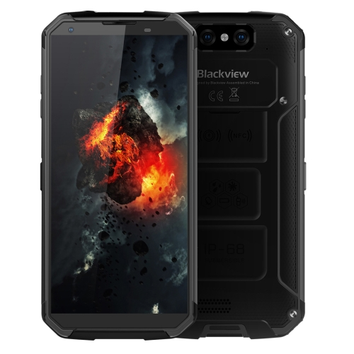 [HK Stock] Blackview BV9500, 4GB+64GB, IP68 Waterproof Dustproof Shockproof, Dual Back Cameras, 10000mAh Battery, Face ID & Fingerprint Identification, 5.7 inch Android 8.1 Helio P23 (MTK6763) Octa Core up to 2.5GHz, NFC, Wireless Charge, Network: 4G(Black)
