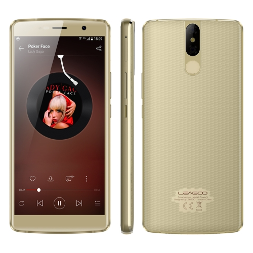 [HK Stock] LEAGOO POWER 5, Dual 4G, 6GB+64GB, Dual Back Cameras, 7000mAh Battery, Face ID & Fingerprint Identification, 5.99 inch Android 8.1 MTK6763 Octa Core up to 2.0GHz, Network: 4G, Dual SIM, Wireless Charge(Gold)