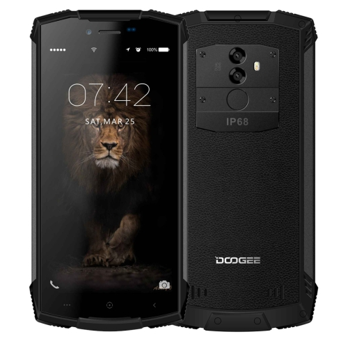 [HK Stock] DOOGEE S55 Lite Triple Proofing Phone, 2GB+16GB, IP68 Waterproof Dustproof Shockproof, 5500mAh Battery, Dual Back Cameras, Fingerprint Identification, 5.5 inch Android 8.1 MTK6739 Quad Core up to 1.5GHz, Network: 4G, Dual VoLTE(Black)