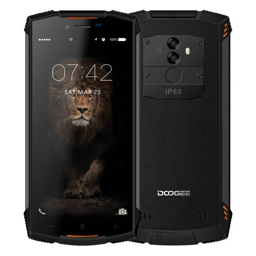[HK Stock] DOOGEE S55 Lite Triple Proofing Phone, 2GB+16GB, IP68 Waterproof Dustproof Shockproof, 5500mAh Battery, Dual Back Cameras, Fingerprint Identification, 5.5 inch Android 8.1 MTK6739 Quad Core up to 1.5GHz, Network: 4G, Dual VoLTE(Orange)