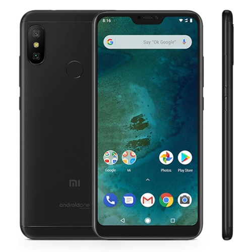[HK Stock] Xiaomi Mi A2 Lite, 3GB+32GB, Global Offical Version, AI Dual Back Cameras, Fingerprint Identification, 4000mAh Battery, 5.84 inch Android One Qualcomm Snapdragon 625 Octa Core up to 2.0GHz, Network: 4G, Dual SIM(Black) ia ai